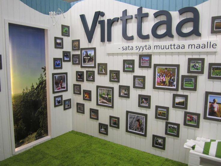 The fair booth of Virttaa, Finland.