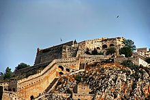 Palamidi Nafplio During the Greek Revolution of 1821, the Turks fortified Palamidi but on 30 November 1822, the Greeks captured after a battle involving Staikos Staikopoulos the Moschonissiotis and 300 men. After the Revolution, Palamidi served as a prison, which in 1833 was imprisoned Theodoros Kolokotronis and was released 11 months later, after grace of King Otto 867.