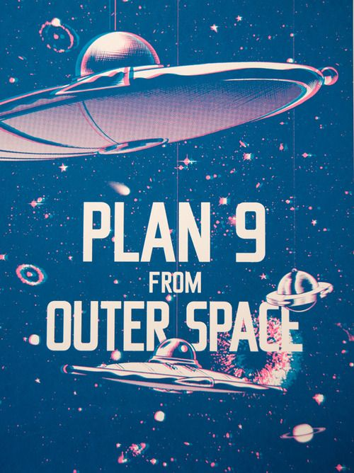 17 best images about plan 9 from outer space on pinterest for Outer space poster design