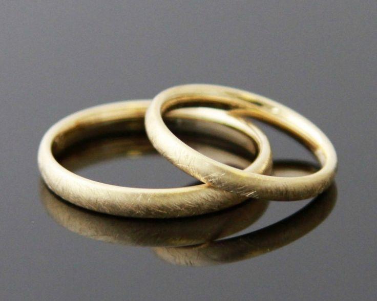 Eheringe - Trauringe GEBÜRSTET 585 Gold - ein Designerstück von mein-Lieblingsring bei DaWanda
