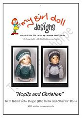 """Ravelry: Kidz'n'Cats ~ """"Noelle and Christian"""" Slip Stitch Sweater Sets pattern by Tammie Goldthorpe"""
