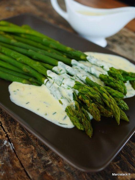 recette de sauce pour asperges vertes:
