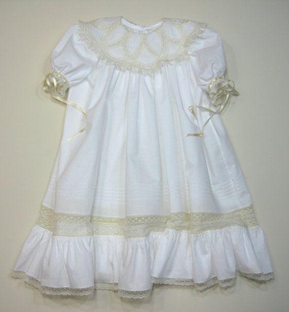 Girls Heirloom Wedding Ring Collar Dress By Dkreid On Etsy