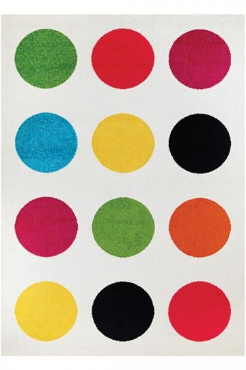 Penny Area Rug - Synthetic Rugs - Machine-made Rugs - Contemporary Rugs - Polka Dot Rugs - Modern Rugs | HomeDecorators.com