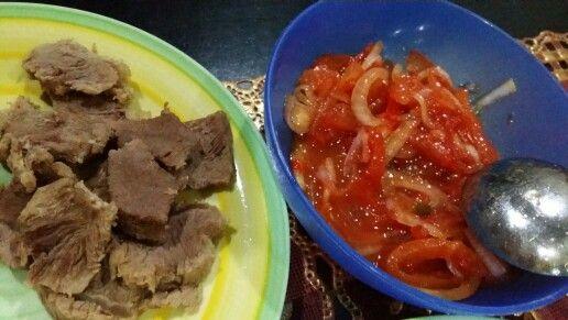 Air Asam Tomato & Daging rebus