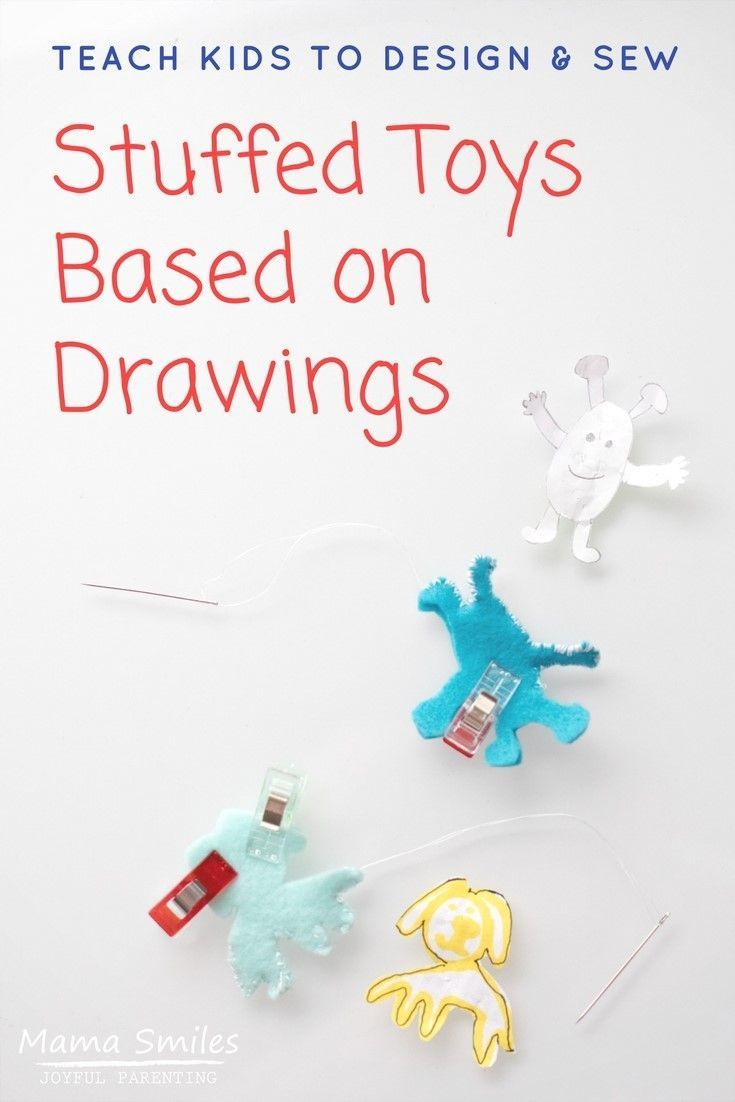 Why buy toys when you can make them? Teach your kids to make stuff toys based on drawings using this simple method. Even my four-year-old can do this!
