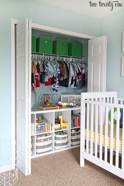 Nursery closet - and 9 other great ways to organize and declutter your home!