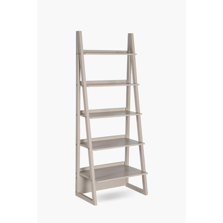 Our freestanding ladder shelf is a stylish shelving unit that will work well in any home or office setting. MDF Duco Assembly required.