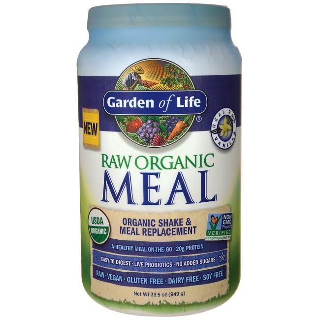 Garden Of Life Raw Organic Meal Shake Replacement Vanilla 33 5 Oz Powder Organic Recipes Benefits Of Organic Food Whole Food Vitamins