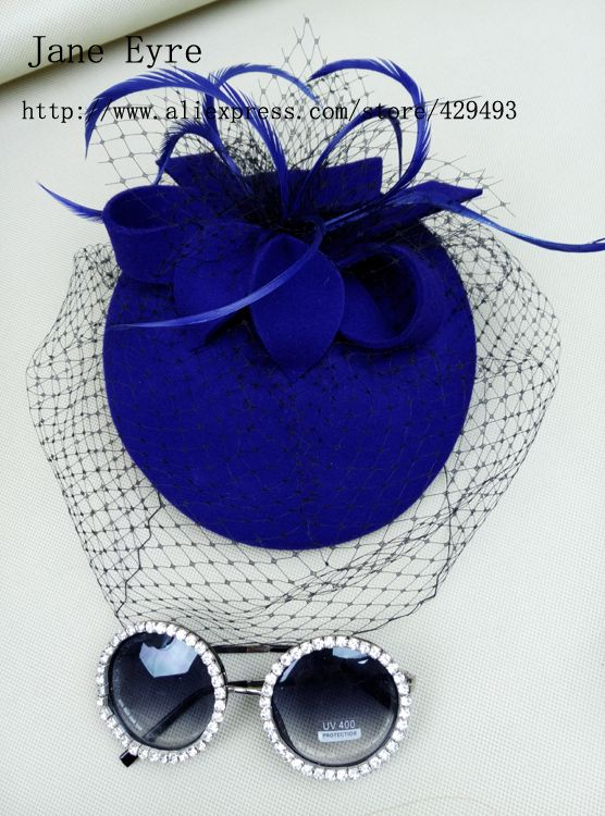Cheap fascinator red, Buy Quality fascinator black directly from China fascinator pink Suppliers:  Material:ladies'100% wool felt ,veil Hat height : 3.5cm Hat diameter:20 cm Color: Royal Blue  Head circumference: