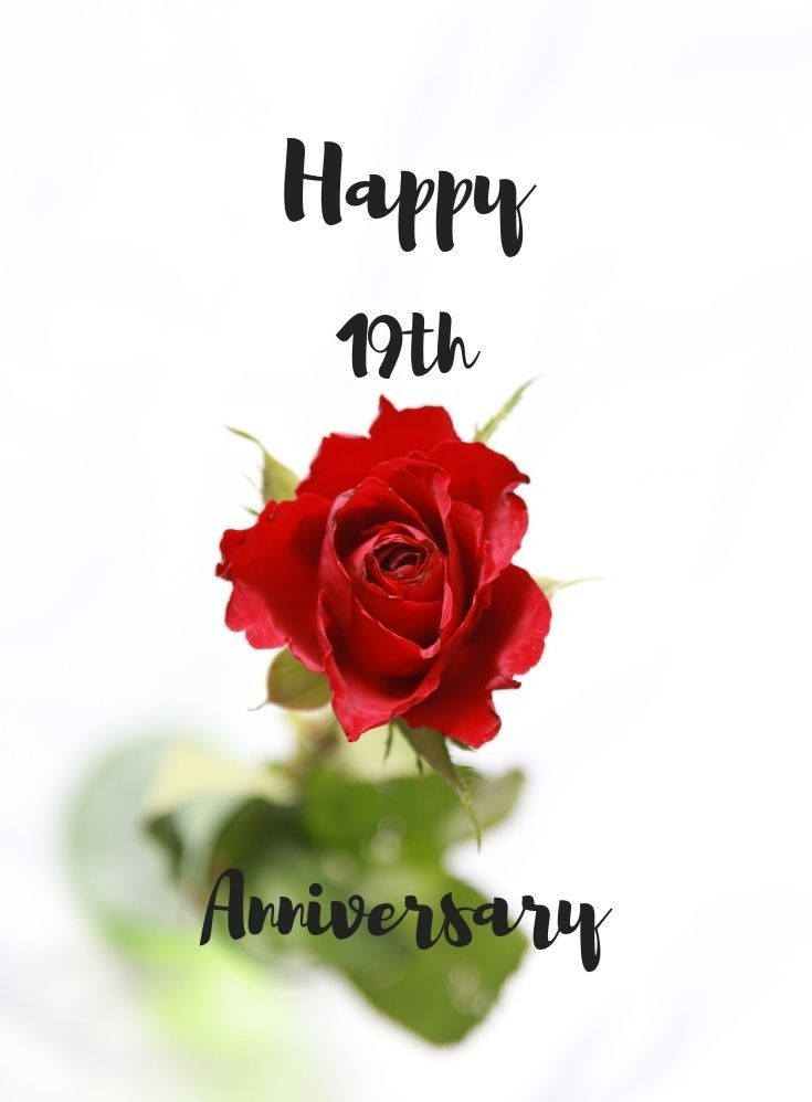 Pin By Deb Miller On Happy Anniversary 19th Wedding Anniversary Happy 19th Anniversary Happy Anniversary Wishes
