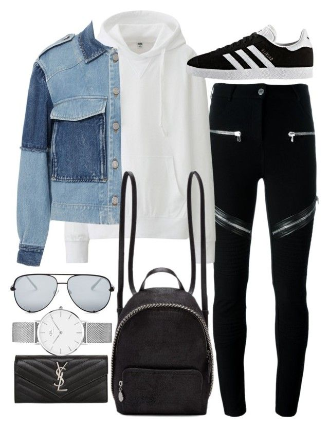 """Untitled #22073"" by florencia95 ❤ liked on Polyvore featuring Givenchy, Uniqlo, adidas, Yves Saint Laurent, Rebecca Taylor, STELLA McCARTNEY, Quay and Daniel Wellington"