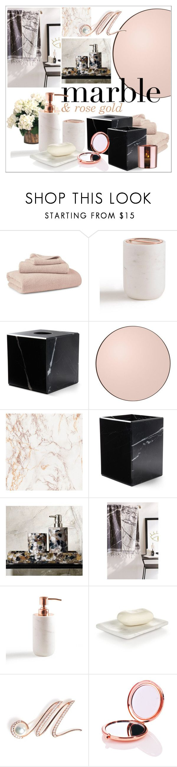 """Marble & Rose Gold in the bathroom"" by szaboesz ❤ liked on Polyvore featuring interior, interiors, interior design, home, home decor, interior decorating, Ralph Lauren, Grandin Road, Waterworks and Urban Outfitters"