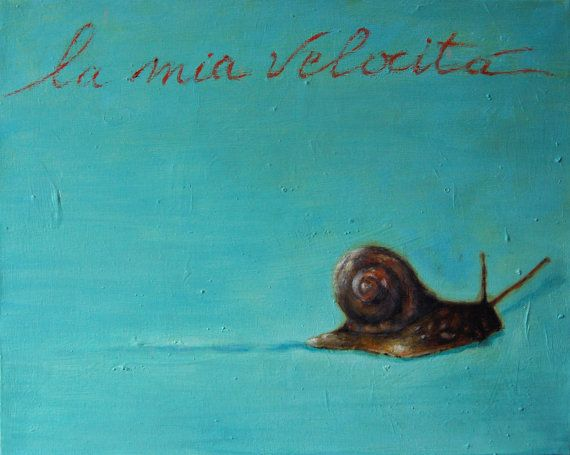 """La mia velocità - Print I think this says """"My Speed""""...what a lovely little piece to brighten up the grey walls that trap you..."""