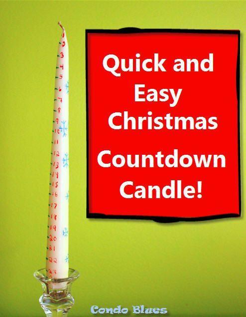 How to Make a Christmas Countdown Calendar Candle CHRISTMAS