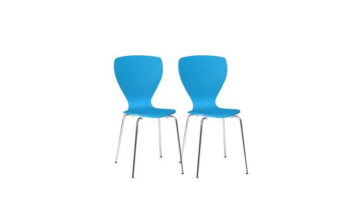 Nowoczesne, błękitne krzesła rozjaśnią każdą przestrzeń. Dostępne na stronie http://www.forte.com.pl/pl