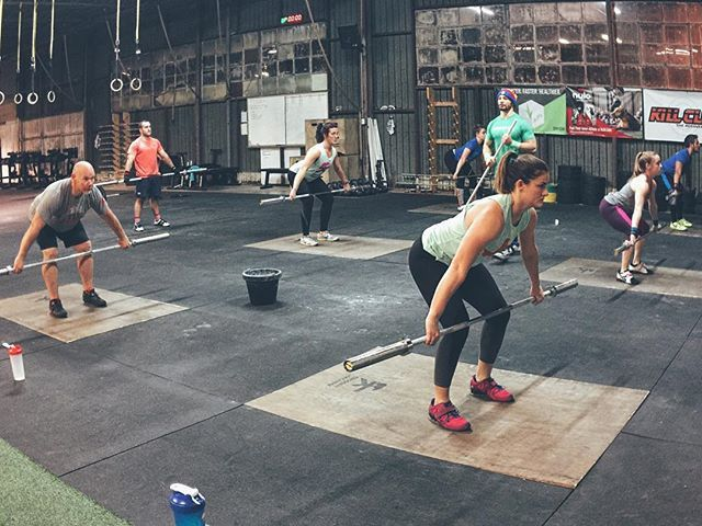 Position work in the evening Jääkarhu #Weightlifting class led by @ricky_redus #CrossFit #Austin
