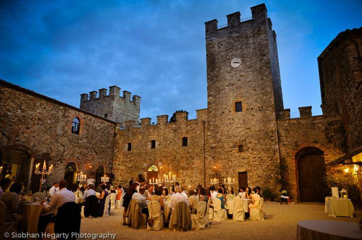 Magnificent outdoor wetting for a wedding at Antico Borgo Di Modanella Toscana.