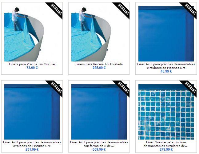Liner para piscinas baratos awesome simple lamina armada for Lamina armada para piscinas precios