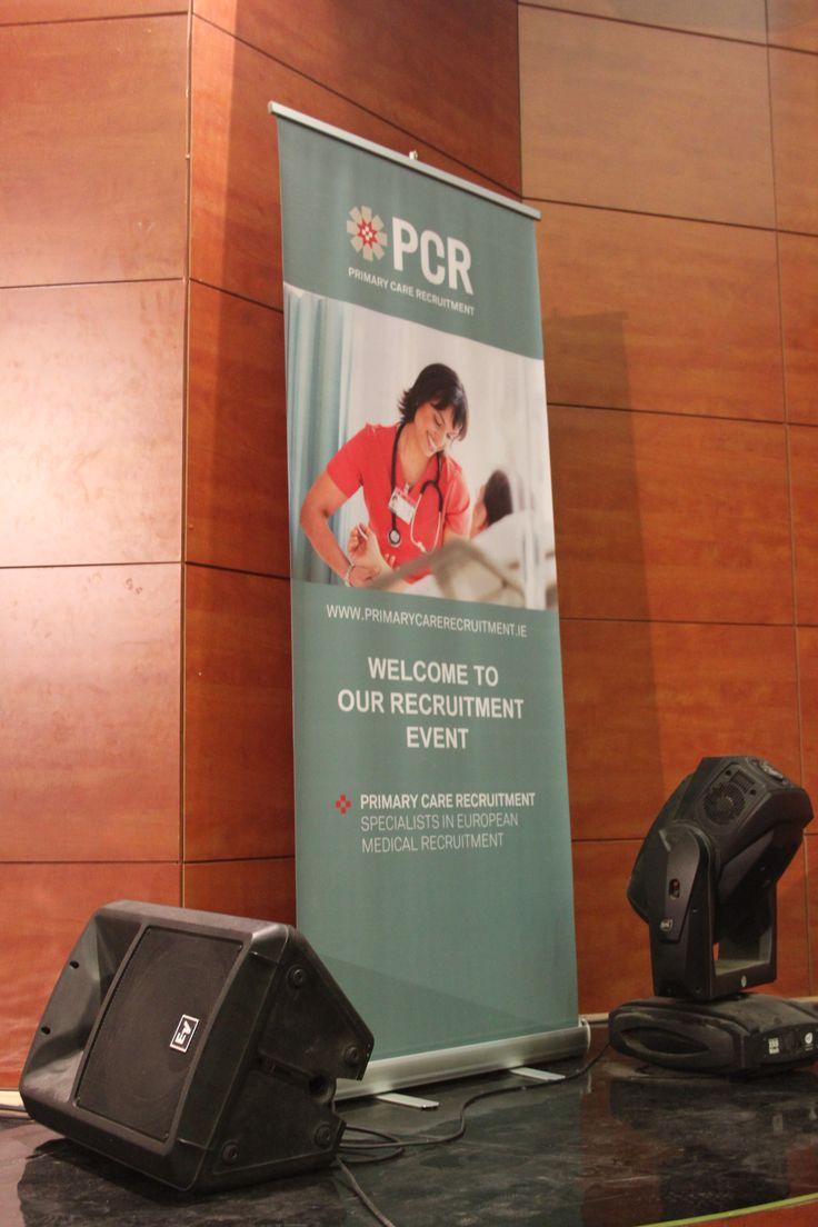Banner design for job fair - Pcr Banner On Stage At Presentation Post Secondary School Of Nursing Carol