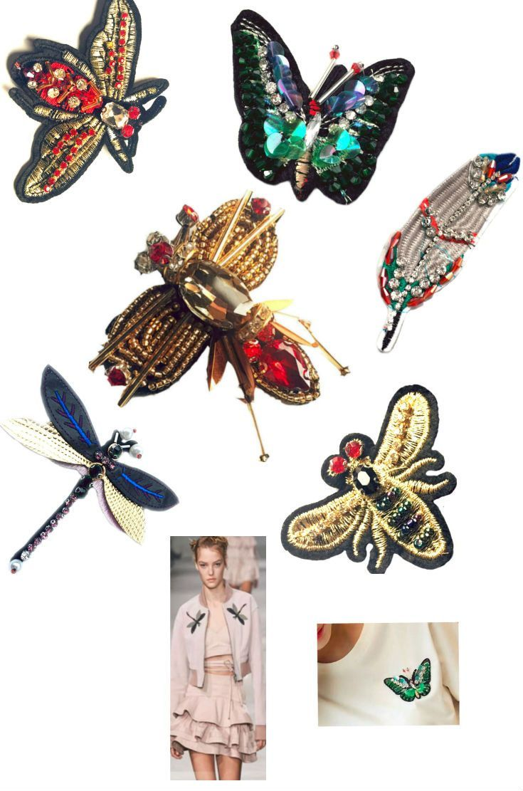 #SequinPatches #PatchesButterfly #Dragonfly #Bee Feather Crystals #Brooches #Embroidered Beaded Patches for Clothes Bag Applique Fabric Patch , 1 PCS