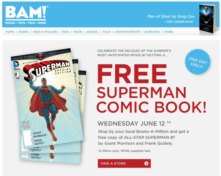 36 best coupons images on pinterest frugal money savers and save pinned june 12th superman comic book free today at books a million coupon via the fandeluxe Images