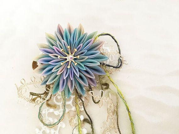 Spilla di tsumami fiore capelli clip corpetto di Keikonoheya