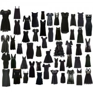 Little black dresses~ ~ ~in all shapes and styles