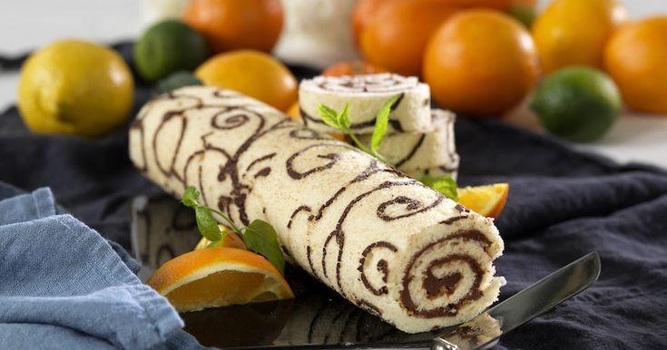 Rulltårta med apelsinfyllning