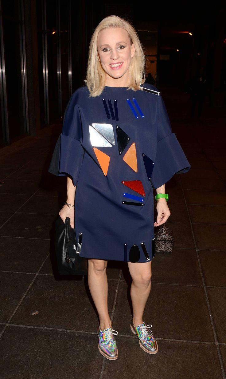 Joanne Hynes leaving The Saturday Night Show in JOANNE HYNES Perplexed Neoprene Dress.