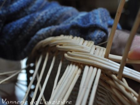 Grand plateau rond en osier - artisanat - vente en ligne