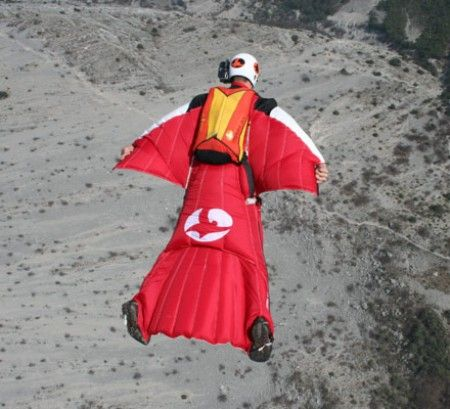Air Suits are custom fitted and are only sold to seasoned sky divers.  The design allows you to fly through the sky versus simply falling.