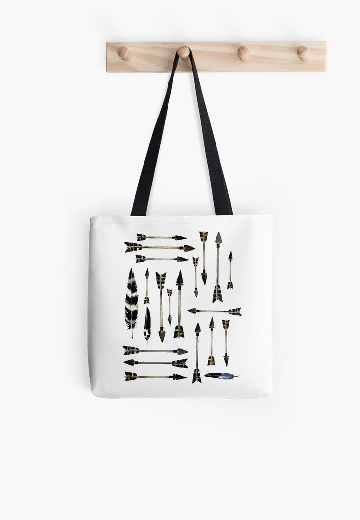 Watercolor feather and arrow design. • Also buy this artwork on bags, apparel, stickers, and more. @redbubble #art #design #baglove #bags #fashion #arrows #feathers #stone