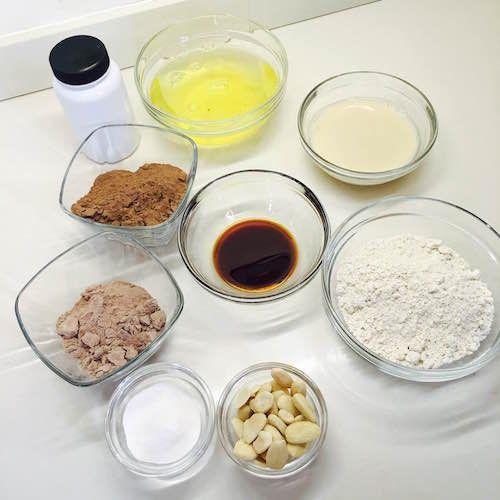 00. Ingredientes brownie de chocolate fitness proteico en blog de fitness y blog de recetas fitness