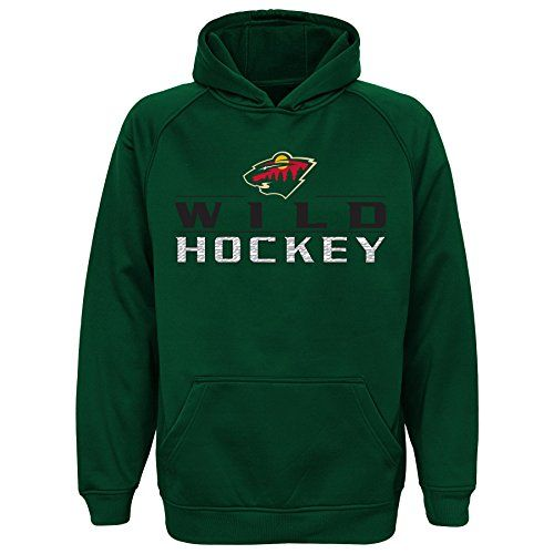 NHL Wild performance hood  Officially licensed by the NHL  Team name and logo on front  Large kangaroo pocket