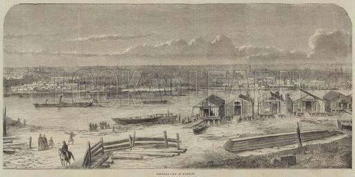 General View of Warsaw. Illustration for the Illustrated Times, 10 November 1860.