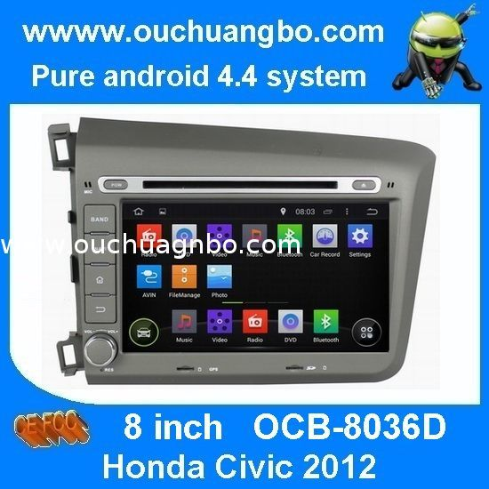 Ouchuangbo In Dah GPS Navigation Radio Stereo Multimedia Kit for Honda Civic 2012 Android from China