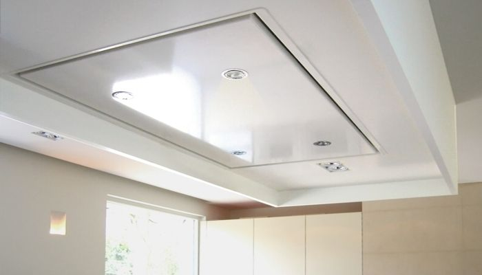 ABK (Prosolo) PA03157RZL 150*70cm white in ceiling wxtractor for external motor 200mm diameter round or 220*90mm square connection to air duct Price ca 1600 EUR