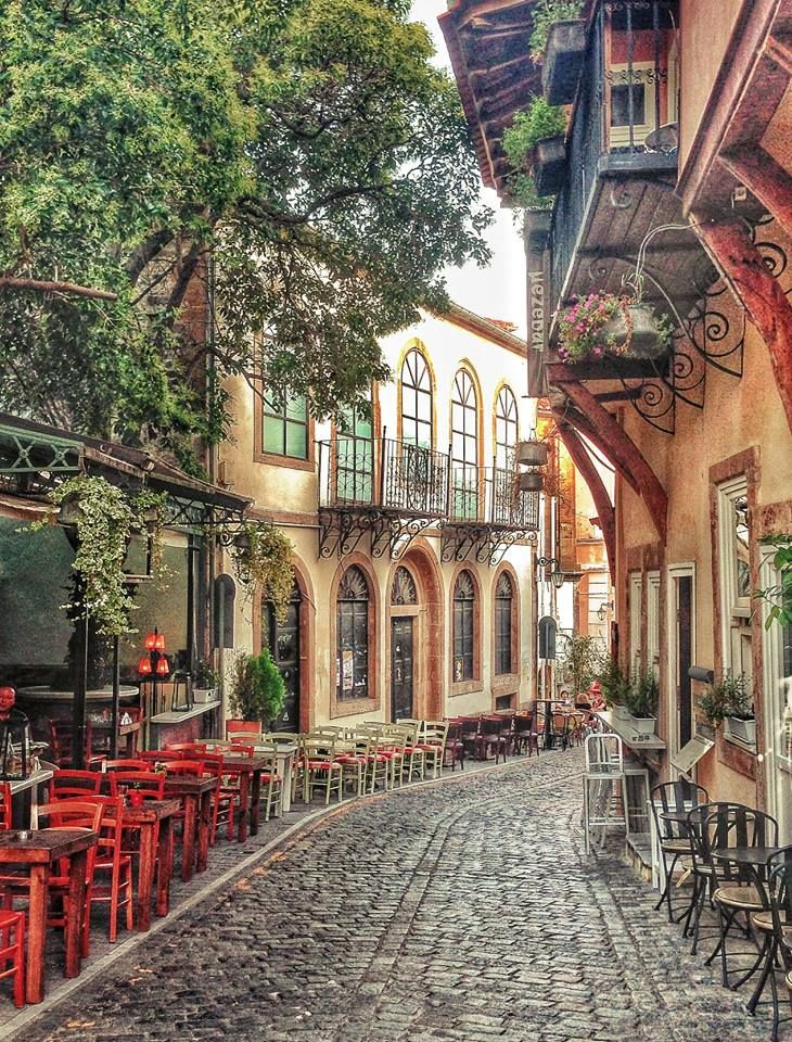 Lovely street in Xanthi, East Macedonia and Thrace