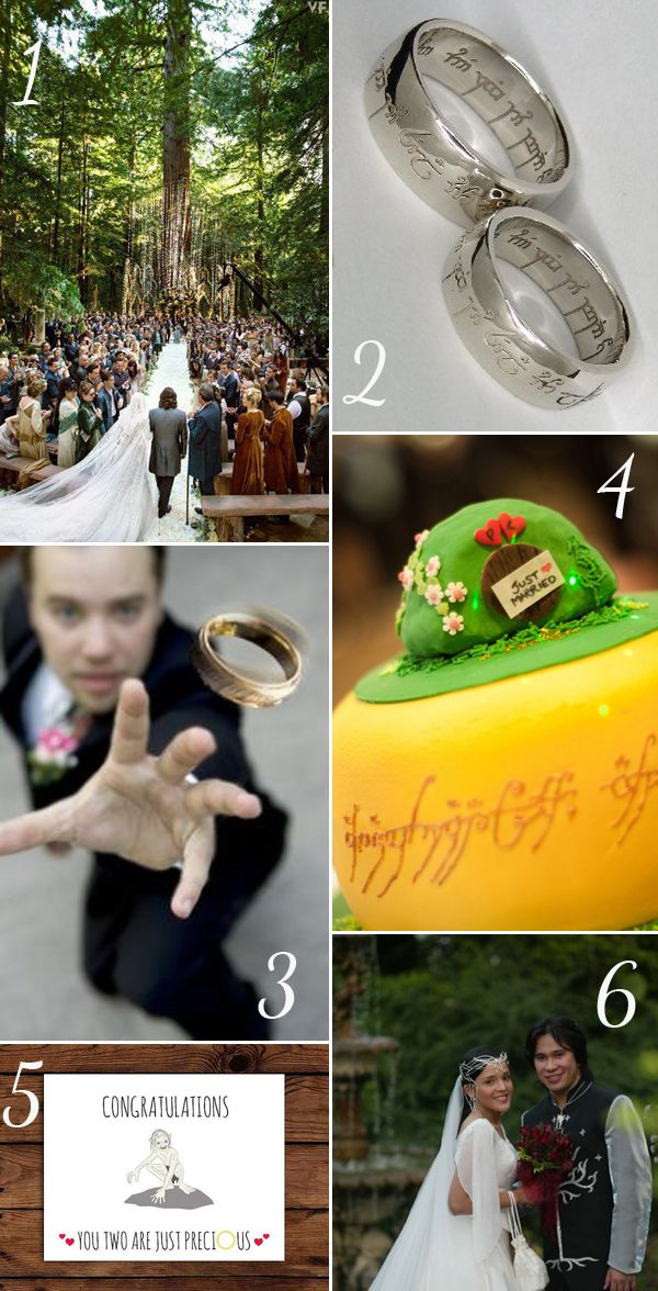 Lord of the Rings Wedding Theme | The Pink Bride www.thepinkbride.com