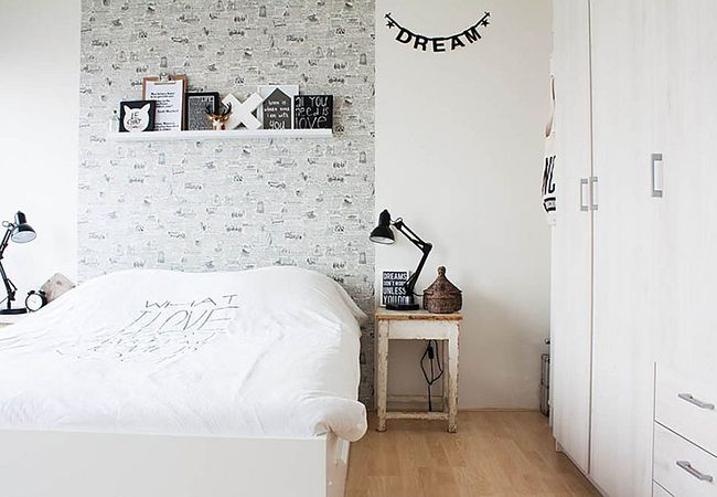 10 Incredibly Chic Alternatives to the Traditional Headboard - Wallpaper Panels