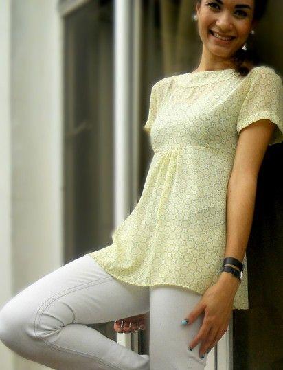 Romantic printed blouse