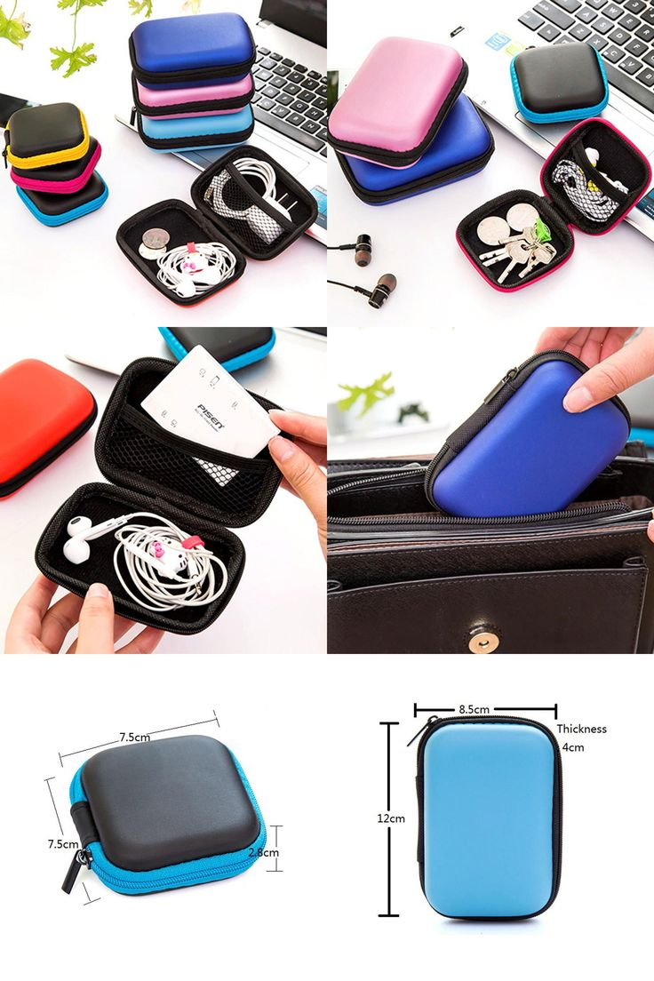[visit To Buy] New Colorful Headphones Earphone Bag Cable Earbuds Storage  Hard Case Travel