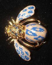 Красивые Джоан Риверс синий леопард пчела pin ~ новые в коробке