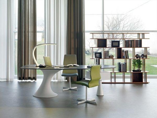 Moderner Schreibtisch Büro Möbel Italienische Marke Weiß Grüne Farbe