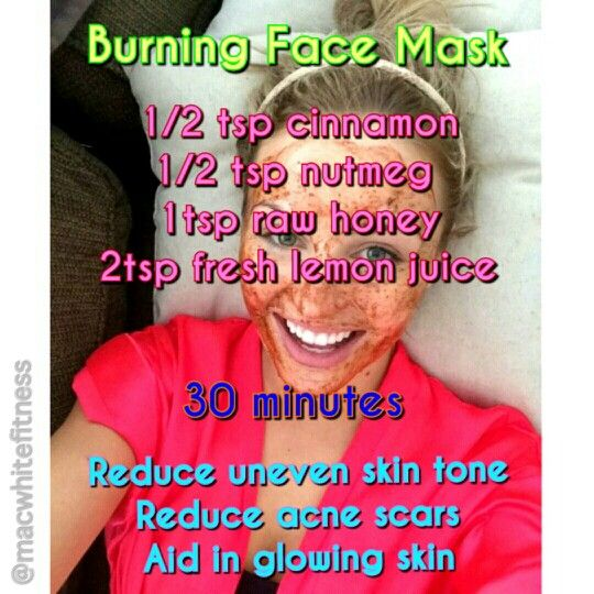 instagram: @themacwhite DIY burning face mask..mix cinnamon nutmeg honey and lemon juice to reduce: uneven skin tone, acne scars, pore size, appearance of wrinkles and result with a glowing complexion! #beauty #diy
