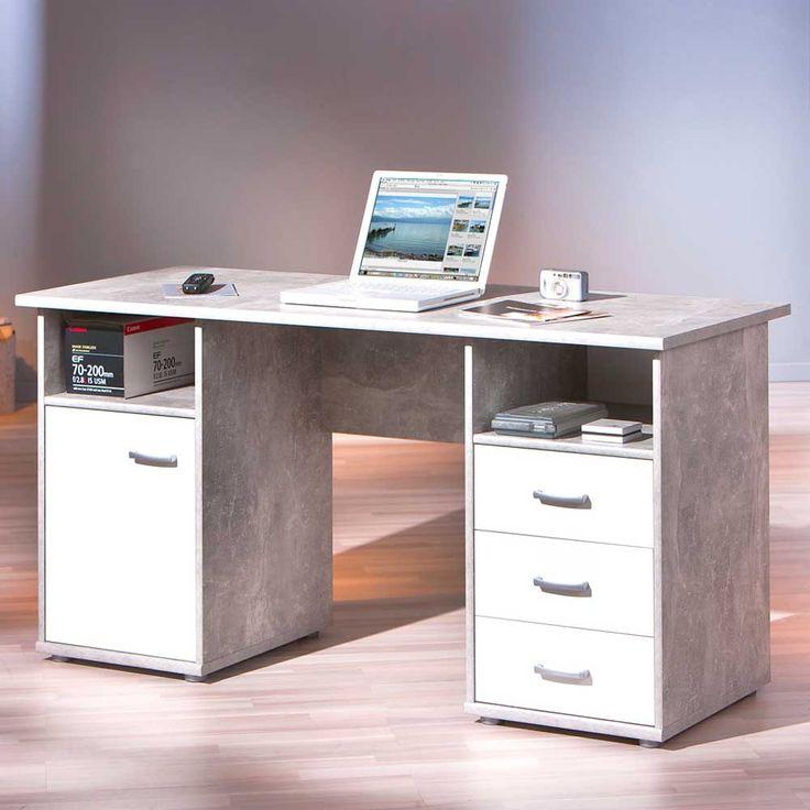 Bürotisch in Weiß Grau Beton Optik Jetzt bestellen unter: https://moebel.ladendirekt.de/buero/tische/schreibtische/?uid=5b811994-c7b6-5e18-8d39-7c912d4ff80d&utm_source=pinterest&utm_medium=pin&utm_campaign=boards #tischgestell #computerschreibtisch #tische #schülerschreibtisch #computer #buero #jugendschreibtisch #edv #tisch #computertisch #schreibtisch #büroschreibtisch #schreibtische