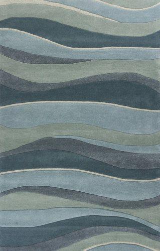 Ocean Landscapes Sculpted Wool Luxury Rug