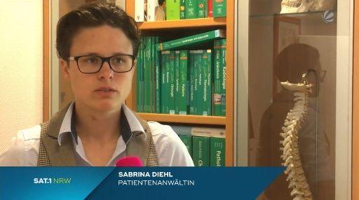 Sat.1 NRW vom 29.06.2015 - Nadel in Niere vergessen - Rechtsanwaltskanzlei Sabrina Diehl