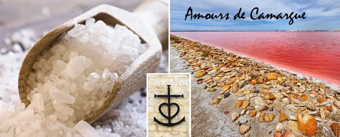 Véritable sel de Camargue, Amours de Camargue, fleur de sel, mélanges piment d'Espelette, 2 piments, cèpes...